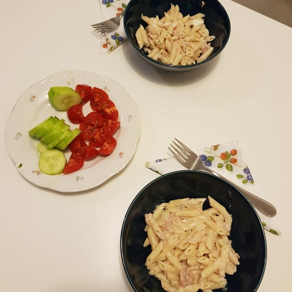 Recept, Tonhalas tészta