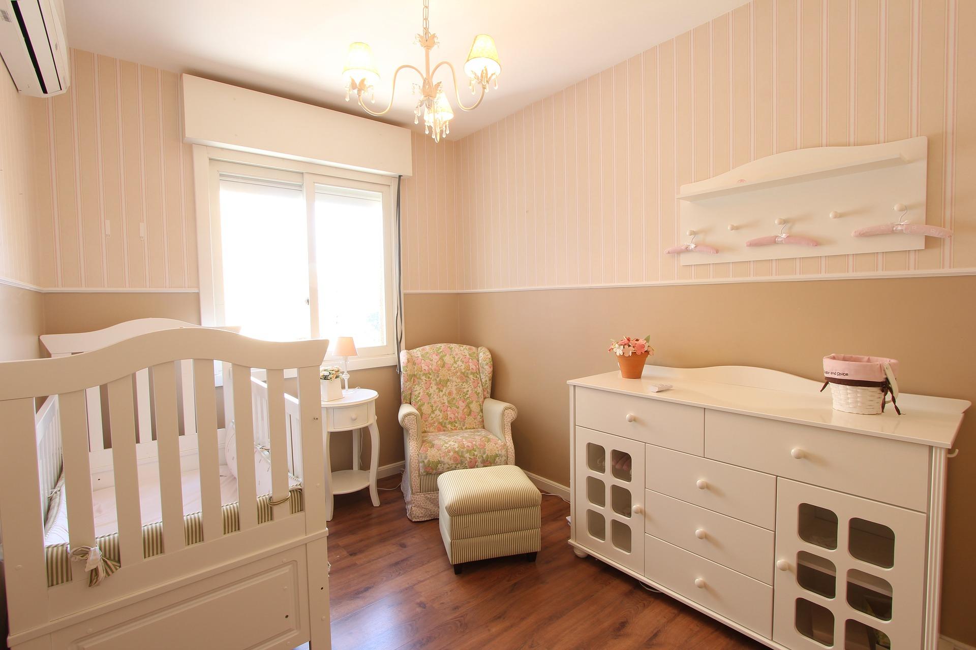 lakberendezési, baba szoba, szoba, otthon, lakás, tippek
