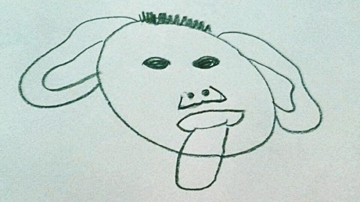 rajz, anyarajz, tehetségtelen, rajzolj, kutya