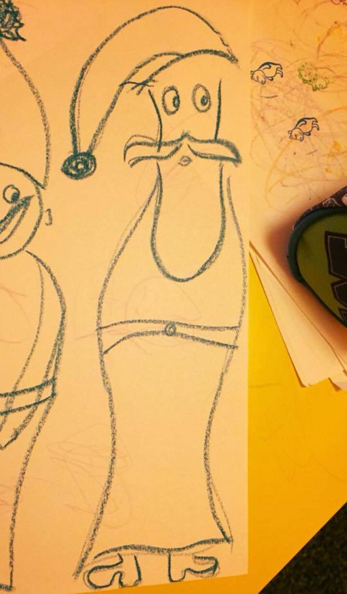 rajz, anyarajz, tehetségtelen, rajzolj, mikulás