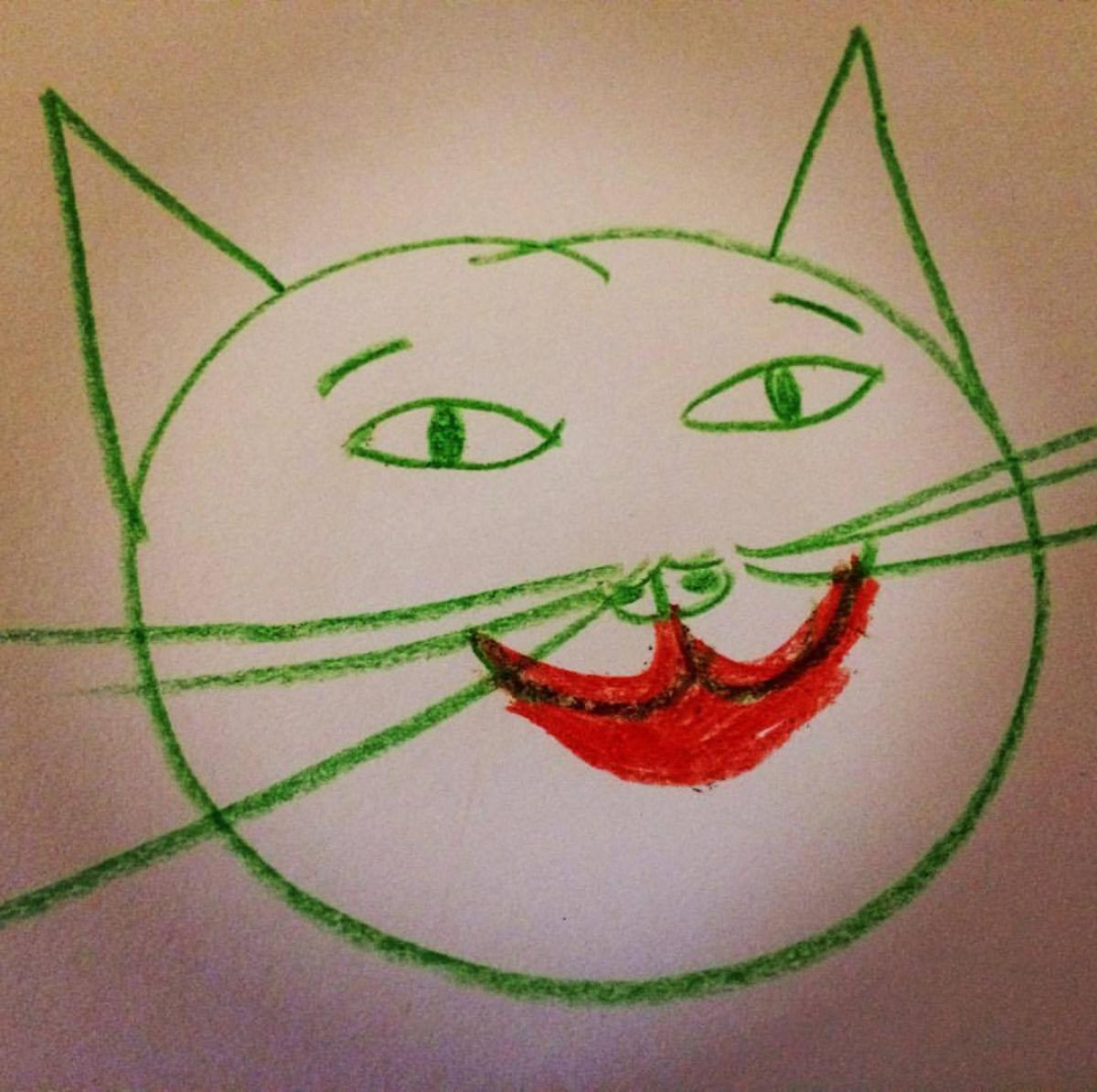 rajz, anyarajz, tehetségtelen, rajzolj, macska