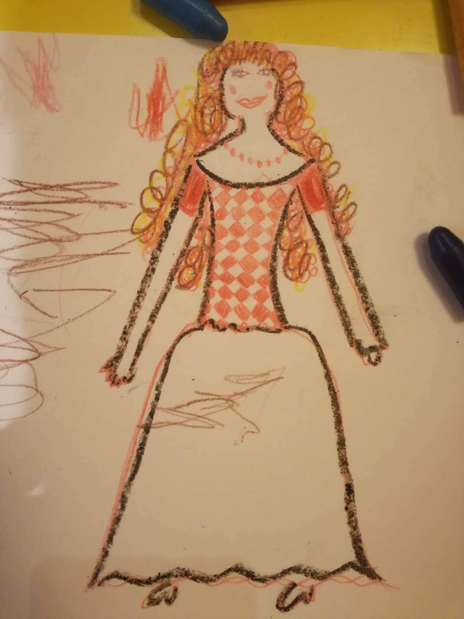 rajz, anyarajz, tehetségtelen, rajzolj, királylány