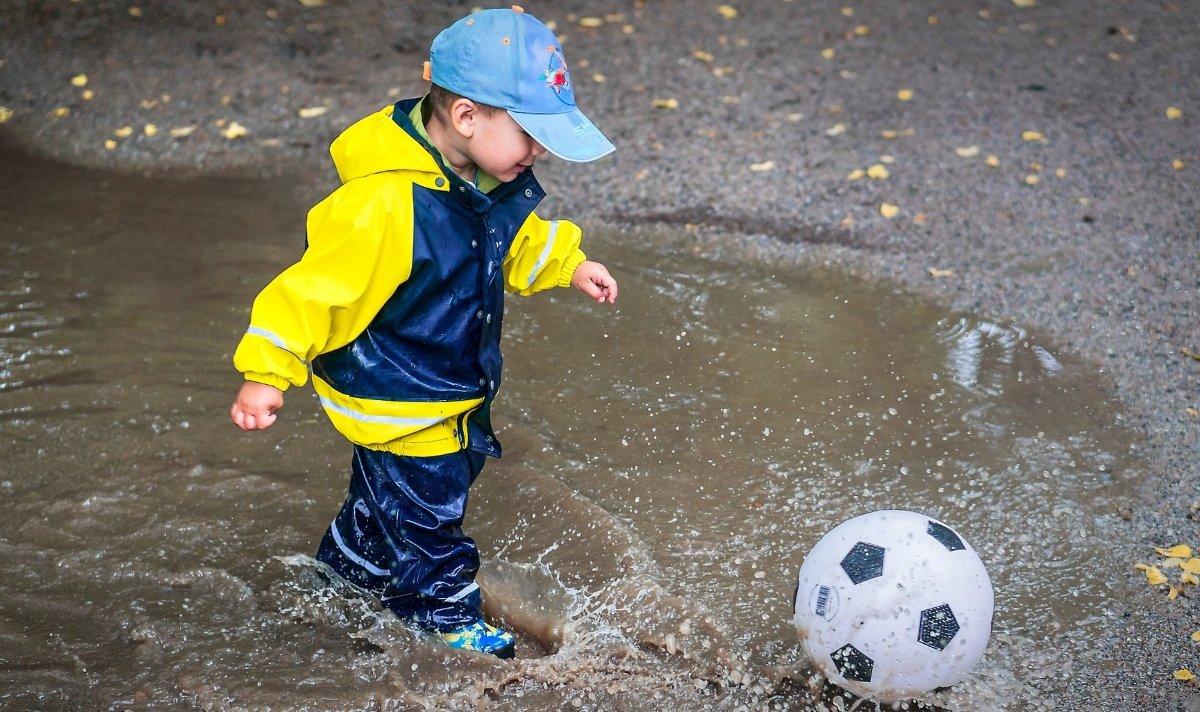 ősz, gyermek, időjárás, tapasztalás, hideg